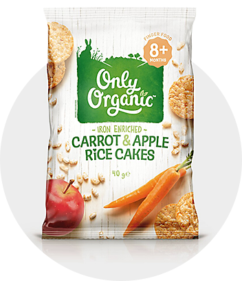 Only Organic Carrot & Apple Rice Cakes