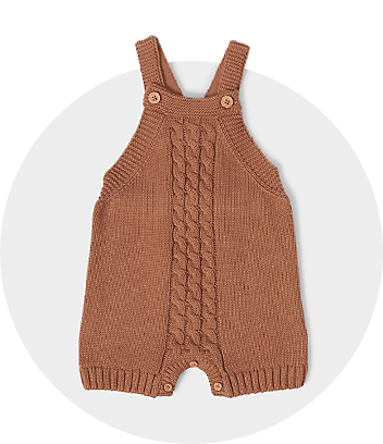 Brown Baby Knit Romper