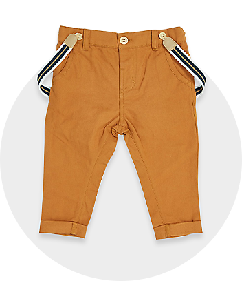 Brown Baby Pants With Braces