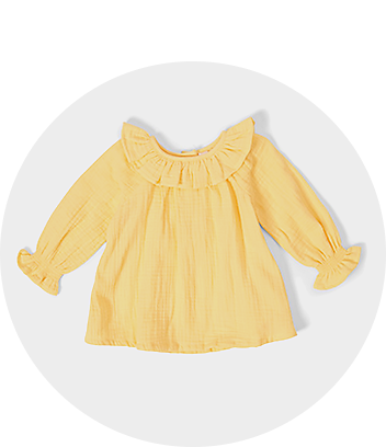 Yellow Long Sleeve Baby Top