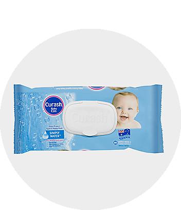 Curash Simply Water Baby Wipes 80 Pack
