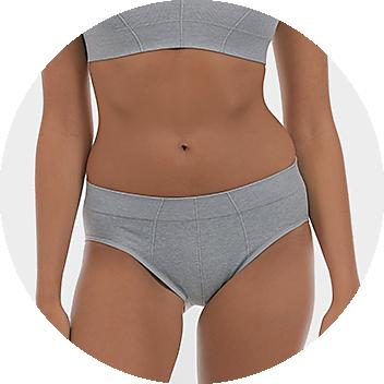 Grey Women's Midi Briefs