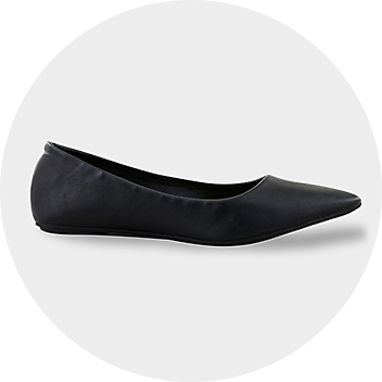 Women's Black Pointed Ballet Flats