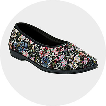 Women's Floral Slippers