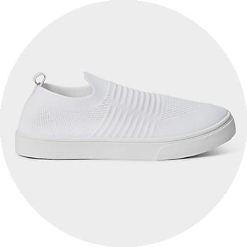 Women's White Slip On Sneakers