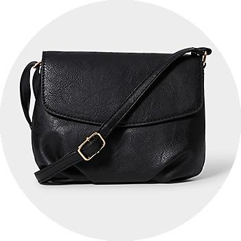 Women's Black Cross Body Bag