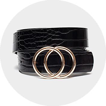 Women's Black Circle Belt