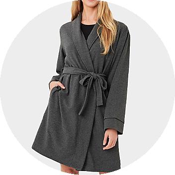 Women's Grey Dressing Gown