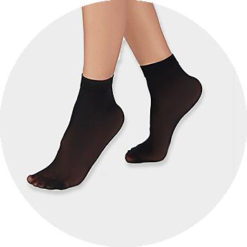 Women's Black Sheer Socks