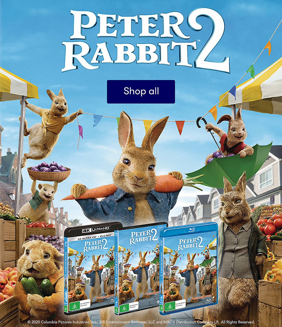 Peter Rabbit 2 now available on DVD & Bluray