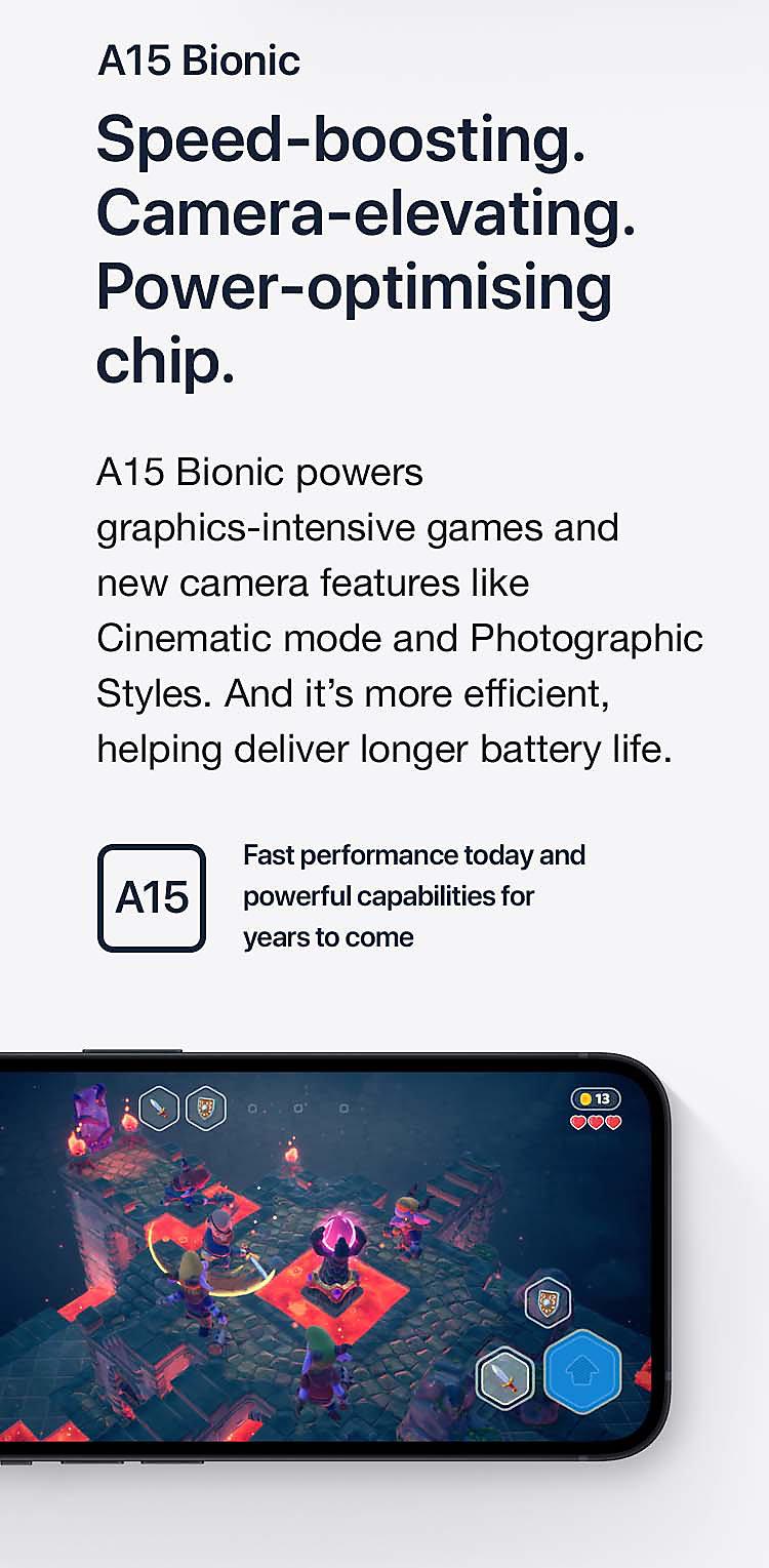Speed-boosting. Camera-elevating. Power-optimising chip.