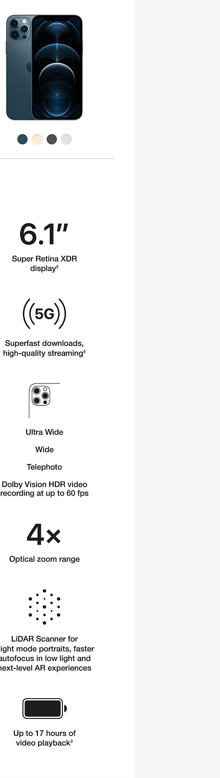 Apple iPhone 12 Pro Specs