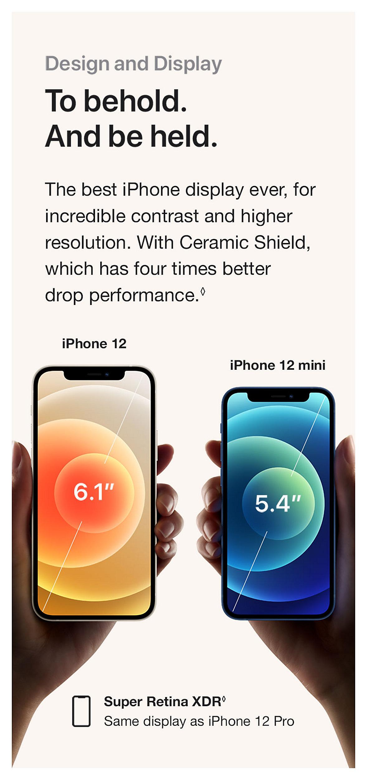 Apple iPhone 12 Super Retina XDR Design and Display