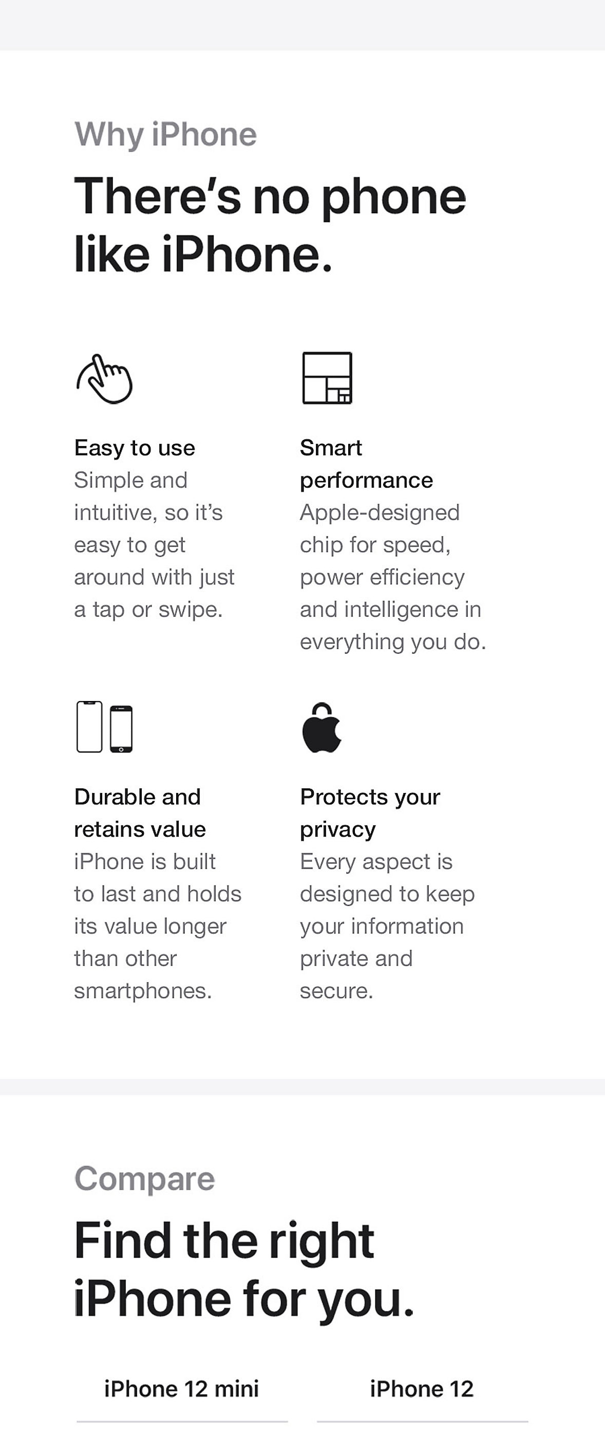 Compare Apple iPhone 12