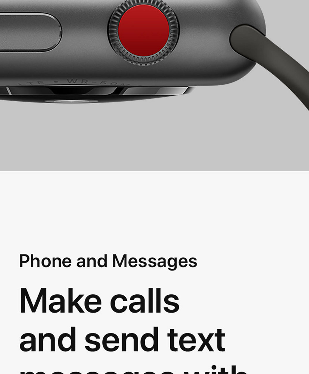 Apple Watch Series 3 product and specifications