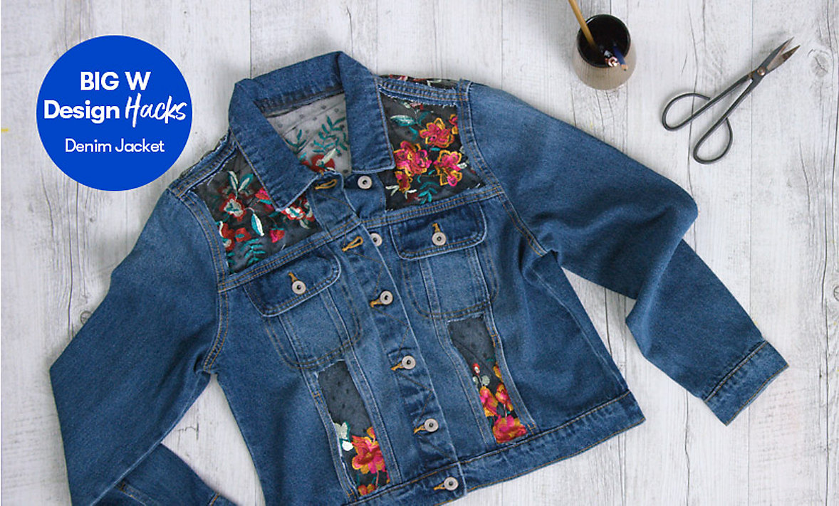 Big Days at Home Upcycle your denim jacket