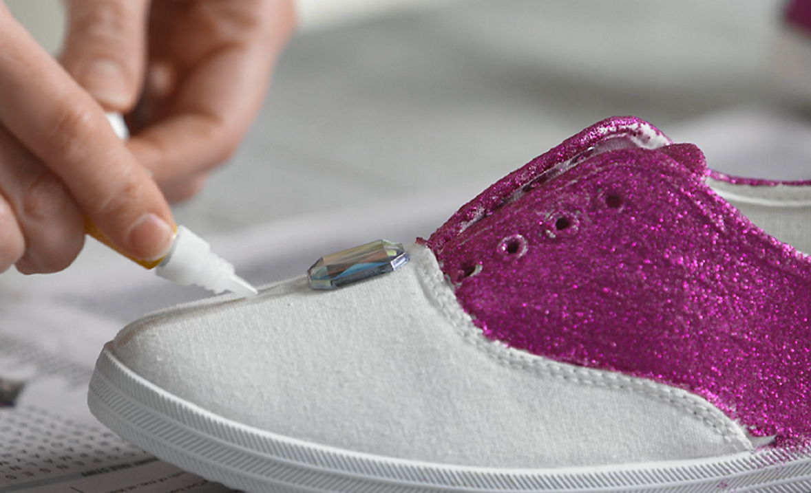 Bedazzled Bling Shoes Step 5