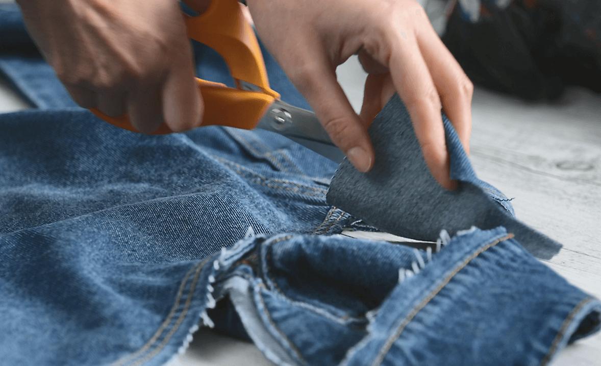 Upcycle your denim jacket Step 2
