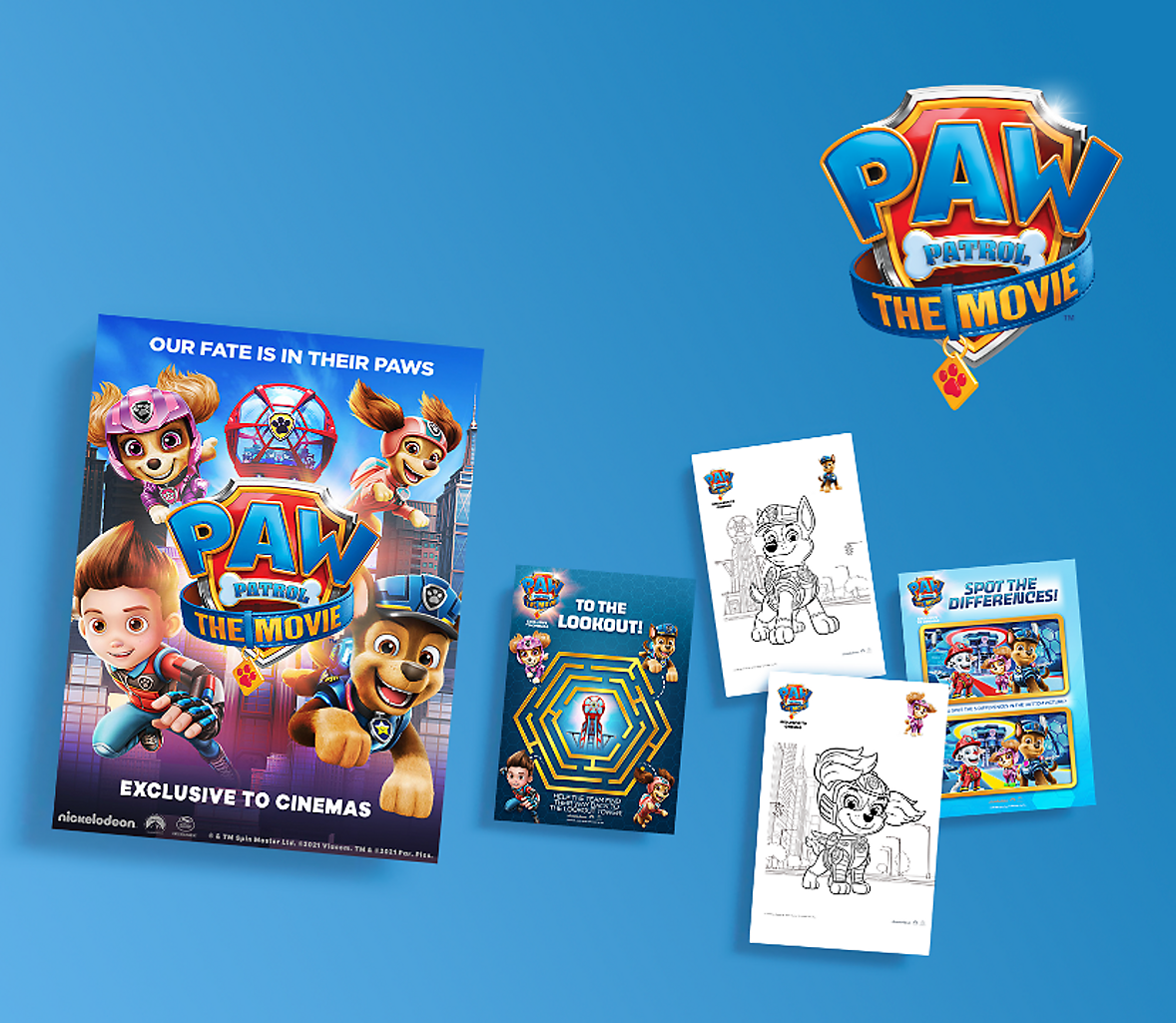 Colouring with Paw Patrol Header