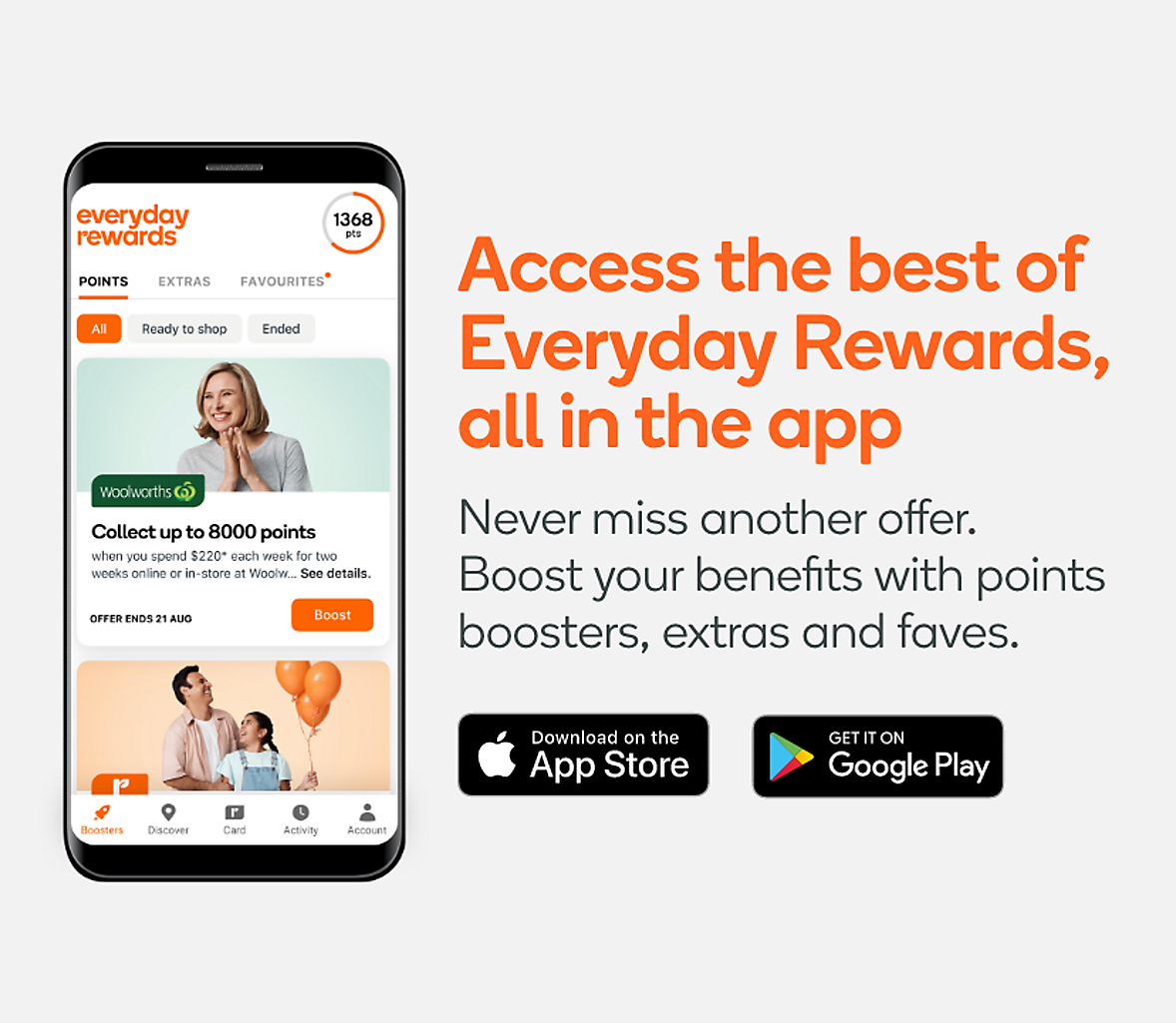 Access the best of Everyday Rewards