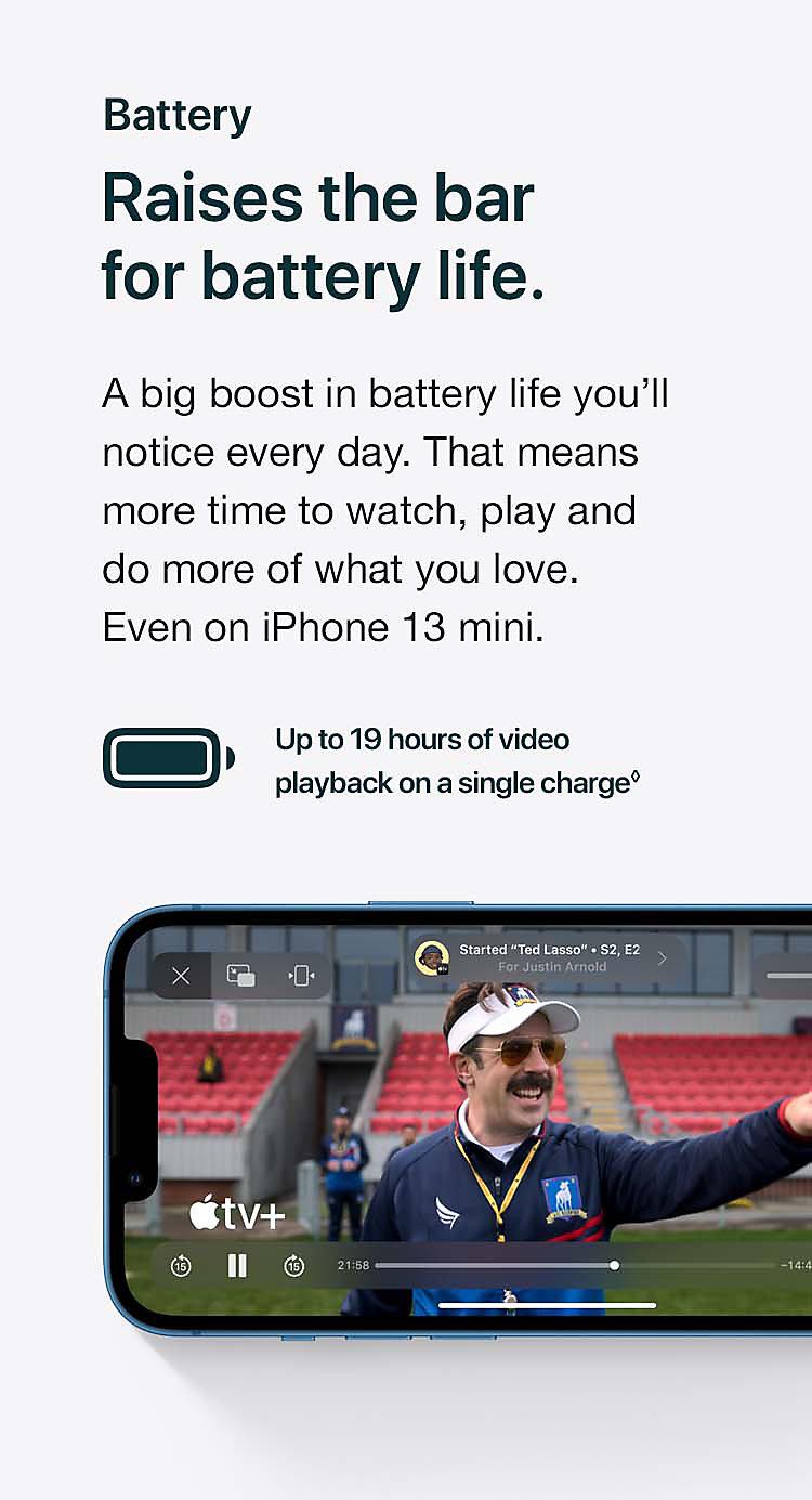 Raises the bar for battery life.