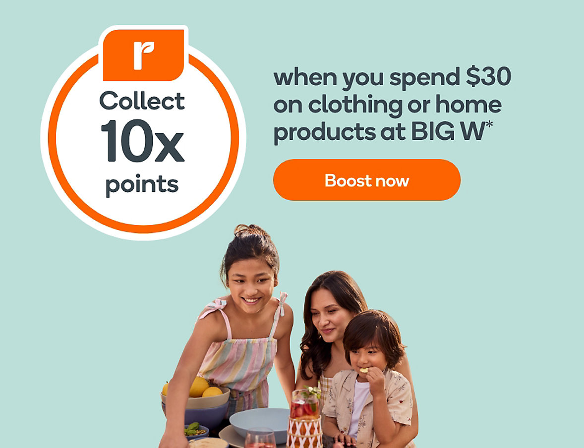 Earn 10x rewards points on Clothing and Home products