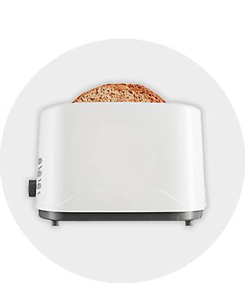 Brilliant Basics White Toaster