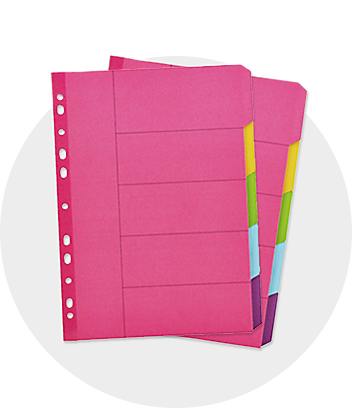 Pink Subject Folders