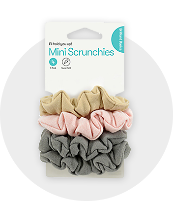 Mini Hair Scrunchies 4 Pack