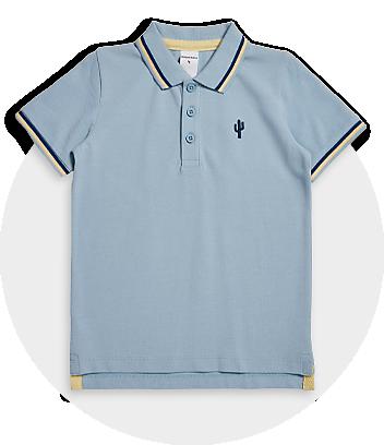 Boys Light Blue Polo Shirt