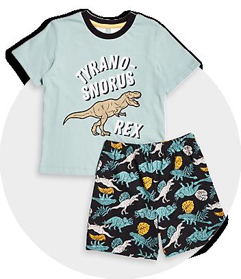Boys Dinosaur Print Pyjama Set