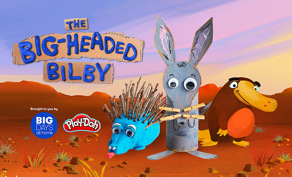 the big-headed bilby big days at home