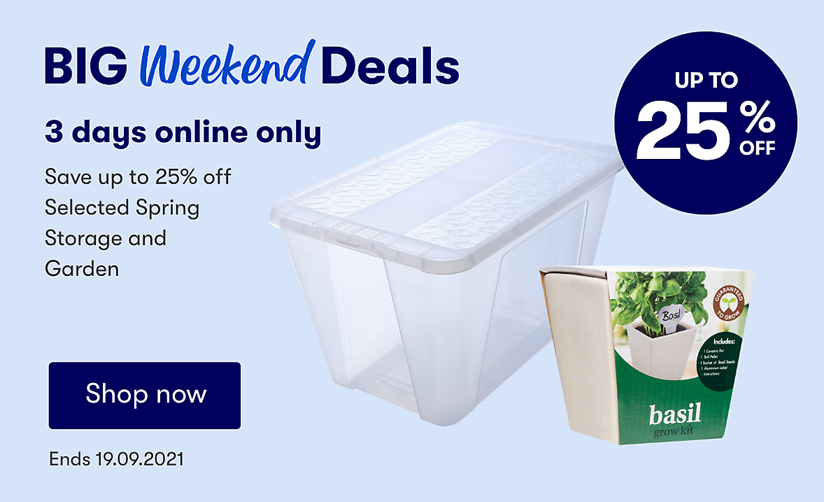 Online only Spring deals. Ends 19.09.2021