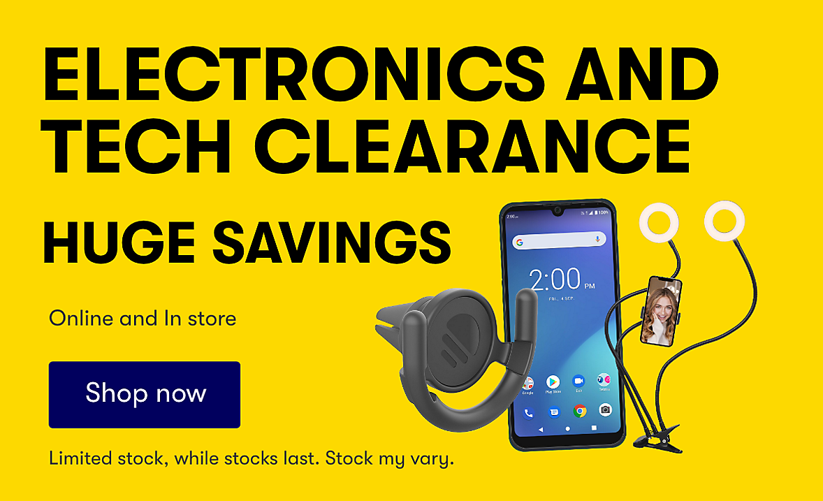 Electronics and Tech Clearance. While stocks last
