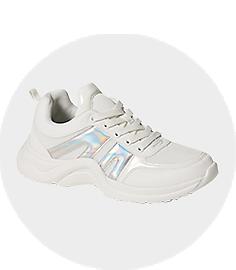 Girls White Sport Shoes