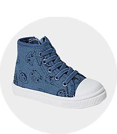 Boys Blue Hi Top Shoes