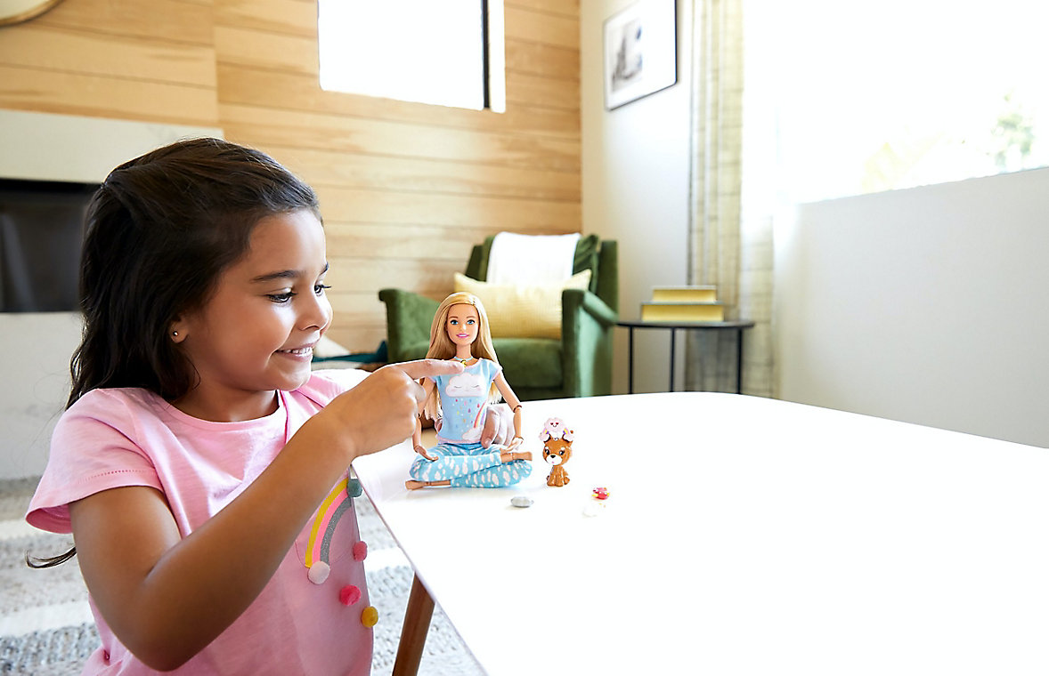 Learn meditation with Barbie
