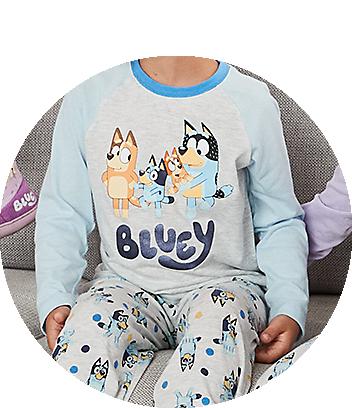 kids fam jams pyjamas bluey