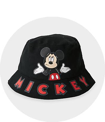black mickey kids bucket hat