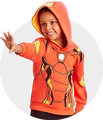 red marvel iron man kids hoodie