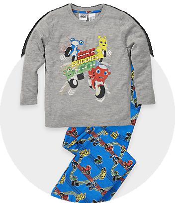grey and blue ricky zoom pyjamas
