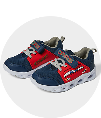 blue boys disney cars light up sneakers