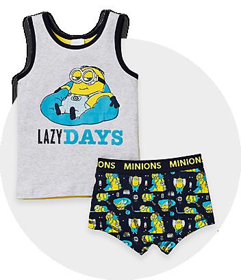 minions grey and black boys underwear