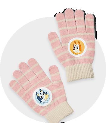 pink bluey girls gloves