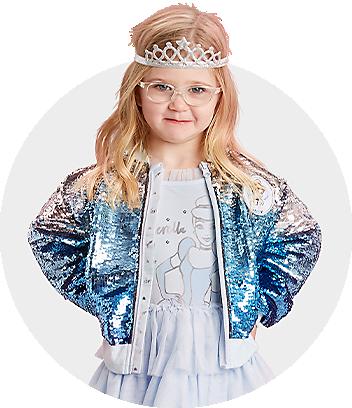 blue disney princess jacket and dress