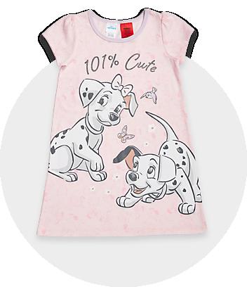 pink 101 dalmatians girls nightie