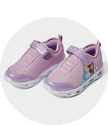 purple disney frozen girls sneakers