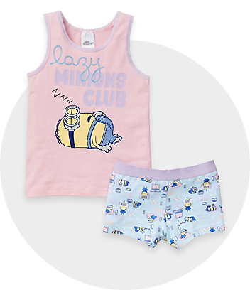 pink and blue minions girls underwear