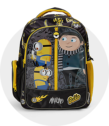 Black & Yellow Minions Backpack