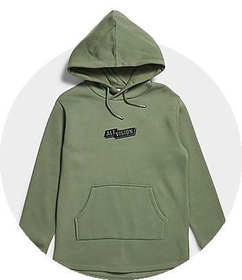 Boys Green Hoodie